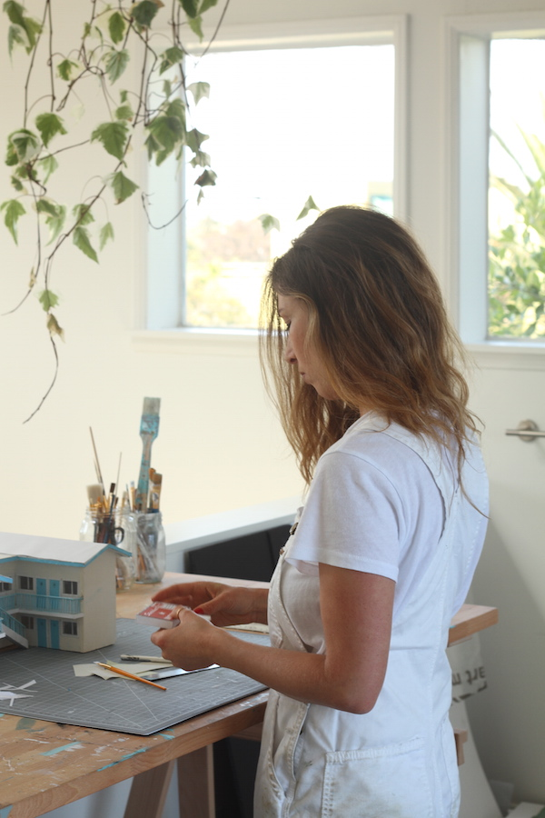 Anna Carey in her home studio, Venice 2015 | Image courtesy of Anna Carey